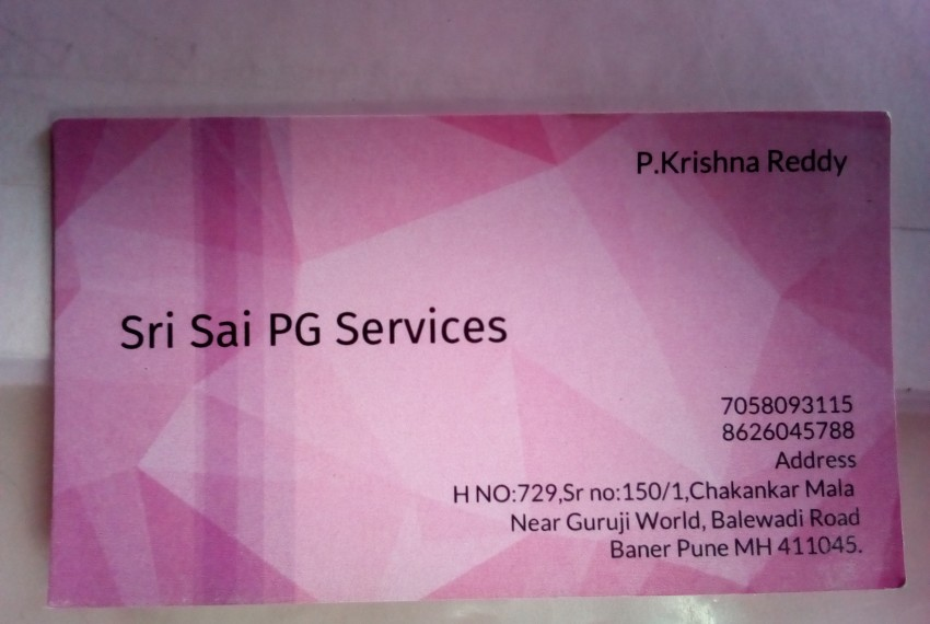 Sri Sai PG Services